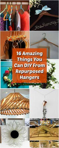 16 Amazing Things You Can DIY From Repurposed Hangers #diy #repurpose #upcycle #hangers via @vanessacrafting