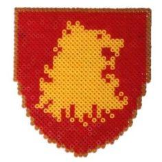 Lannister shield perler beads by Garrosa on deviantART