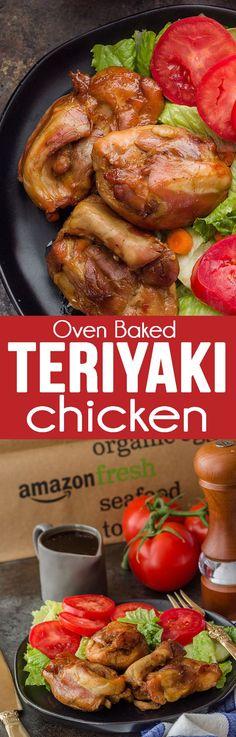 Oven Baked Teriyaki Chicken is so moist and flavorful! #ad #chicken #teriyakichicken #Teriyaki #chickendinner
