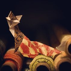 Walking the bolts, this Moresco face is hard to overlook #Fortuny #Fabric #Design #Color #InteriorDesign #Art #Decor #Origami #FollowTheFox