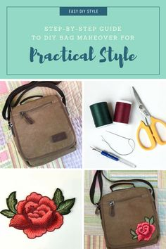 Create a DIY Simple Bag Makeover for bohemian style that is affordable!