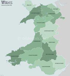Wales Map Counties - https://bilderpin.com/14543/wales-map-counties/ -Bilder Pin