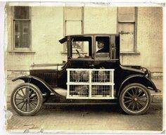 Model T Ford Forum: Old Photo - Taking The Chickens To Market