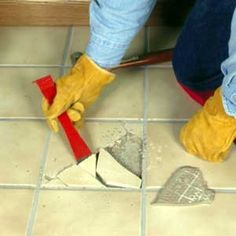 How To Replace Broken Ceramic Tile For Dummies Projects To Try - How to fix broken tile in bathroom