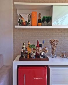 Understanding Mini Bar Design Ideas Some balconies are made to compliment the present home design and decor. When it has to do with designing an outdo. Coffee Bar Home, Decor, Bars For Home, Home Bar Designs, Small Bars For Home, Bar Design, Building A Home Bar, Ikea Living Room, Home Building Tips