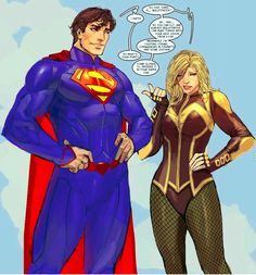 Black Canary & Superman (New52) Nebezial doodles. I highlighted Superman so his suit looked a brighter blue.