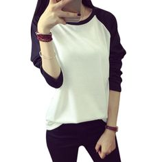 Frauen Lose Lange Hülsen-beiläufige Sweatshirt Pullover Jumper 4 Größe M L XL XXL