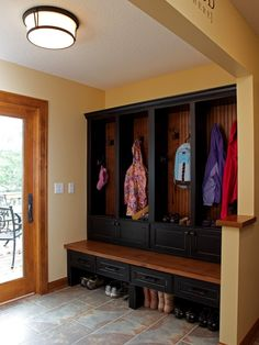 Coat Storage with bench @ MyHomeLookBookMyHomeLookBook