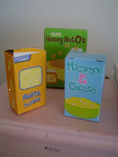 Helping Little Hands: Remaking Play Food Boxes to Last: 12 Days After Christmas