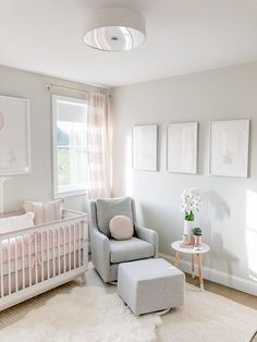 Charming Baby Girl Nursery Area Ideas (Images) - Welcome to our baby girl nursery style ideas image gallery showcasing great deals of nurseries for child women. nursery decor 50 Inspiring Nursery Ideas for Your Baby Girl - Cute Designs You'll Love Baby Room Boy, Baby Bedroom, Baby Baby, Baby Bedding, Baby Nursery Ideas For Girl, Simple Baby Nursery, Bedding Sets, Baby Girls, White Nursery