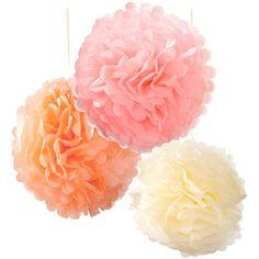 Pom poms - Pastellmix (3-pack)