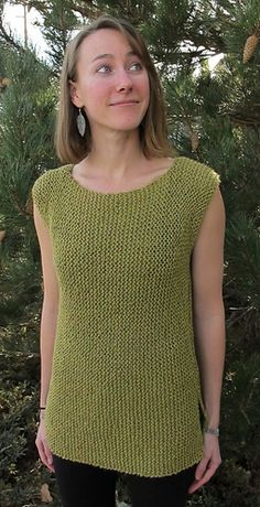 Side to side sleeveless top, worsted weight yarn