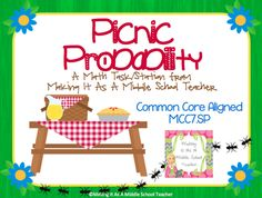 Making It As A Middle School Teacher: Math Game Monday ~ Picnic Probability
