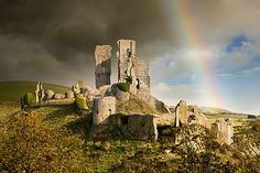 Corfe Castle, linking to Studland Beaches Pictures, Dorset, England, UK