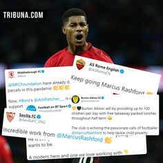 "@manunitedliveapp: ""Football clubs and organizations all around the globe spread the good word and help Marcus raise…"" Burton Albion Fc, Marcus Rashford, Bt Sport, As Roma, Boro, Organizations, Cool Words, Globe, Football"