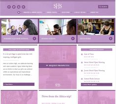 Sutton High School for Girls' new website uses dynamic design and strong branding to engage current / prospective parents & pupils and alumni! http://www.suttonhigh.gdst.net/ #schoolbranding #schoolwebsites #engagingwebsitedesign
