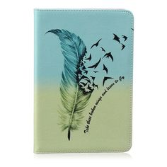 Painting PU Leather Stand Case For Apple iPad mini Case Cover For iPad mini 1 2 3 7.9 inch Shell with Card Holder +Stylus