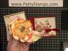Paper Flowers with Stampin Up Blossom Punch.  Really cute and pretty.  Easy also.  Video how to by Patty Bennett.