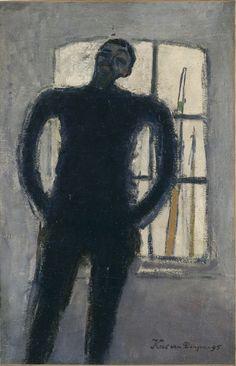 Painting by Kees Van Dongen (1877-1968), 1895, Autoportrait, oil on canvas, Centre Pompidou, Paris.