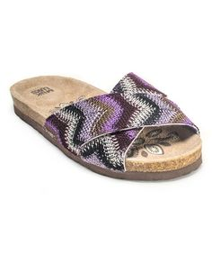 Another great find on #zulily! Purple Dolly Cross Over Strap Sandal #zulilyfinds