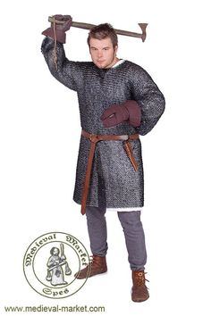 Chain mail with long sleeves (round rivets). SPES Medieval Market