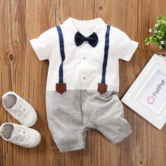 Check out this great stuff I just found at PatPat! Baby Boy Gentleman Faux-two Overalls Romper (loose shape) Baby Boy Suit, Baby Boy Romper, Cute Baby Boy, Baby Baby, Baby Dress, Baby Outfits Newborn, Baby Boy Outfits, Kids Outfits, Fall Fashion Outfits