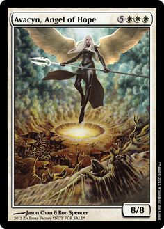 Avacyn, Angel of Hope, zeerbe, proxy, digital render. Z's Proxy Factory, MTG, Magic the Gathering