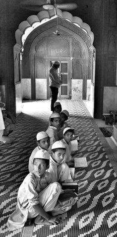 Koran classes at Kashmiri gate , New Delhi.