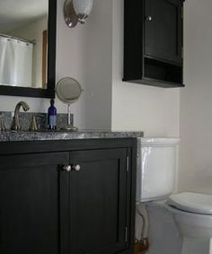 Painting Bathroom Cabinets Black master bath before and after | le francaise | pinterest | master
