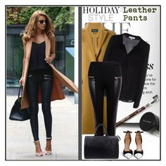 """""""Holiday Style: Leather Pants"""" by vidrica ❤ liked on Polyvore featuring Isabel Marant, Milly, Louis Vuitton, Givenchy, leatherpants, polyvoreeditorial and holidaystyle"""