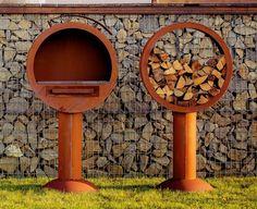 Best Ferrum Art Design Grill und Holzlege Rund im Set