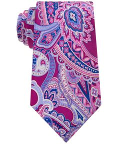 """Make a definitive fashion statement with this timeless paisley classic tie from Geoffrey Beene. 