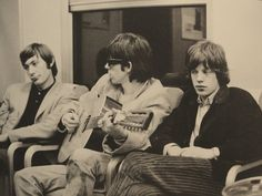 Charlie Watts, Keith Richards, and Mick Jagger
