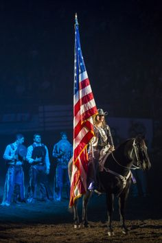 Opening Ceremony  #rodeo #usa #flag #horse #cowgirl #ride #speedshopnorth #riders #riding