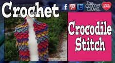 Left & Right Handed Crocodile Stitch Video Tutorials - The Crochet Crowd #crochet #crochetstitch #crocodilestitch