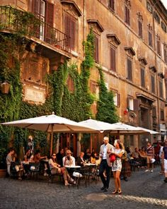 BUCKET LIST: ITALY: Rome -- Two blocks from the Piazza Navona, Caffè della Pace has been catering to Romans' taste for food, drink, and conversation outdoors since the nineteenth century. Oh The Places You'll Go, Places To Travel, Places To Visit, Travel Destinations, Rome Travel, Italy Travel, Visit Rome, Rome Florence, Piazza Navona