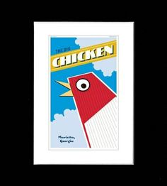 """The Big Chicken. Used to offer directions (""""Turn left at the Big Chicken"""") in the Atlanta suburb of Marietta, Georgia since it was first constructed in 1963."""