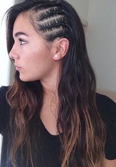 Braid Styles For White Hair Side Cornrows Baby Hairs 3 Hairstyle Ideas Hair Styles Color Braided Hairstyles The post Braid Styles… Braid Styles, Short Hair Styles, Natural Hair Styles, Différents Styles, Natural Curls, Side Braid Hairstyles, Cool Hairstyles, Hairstyle Ideas, Cornrow Hairstyles White