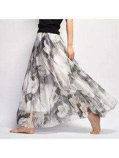 Bohemian Chiffon Floral Print Elastic Waist Maxi Skirt For Women is so eye-catching and suit for all occasions, Come and buy women skirts on NewChic now! Mobile.