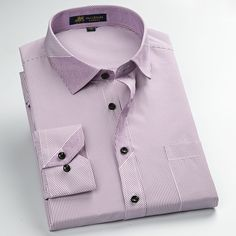 Autumn 2016 Men's Long Sleeve Contrast Stripe Dress Shirts Square Collar…