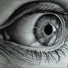 Pencil Art. intense eye