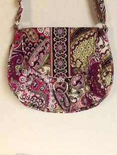 f8f904768c78 Vera Bradley Very Berry Paisley Saddle Up Shoulder Bag  VeraBradley   ShoulderBag Vera Bradley Purses