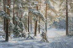 Зима в сосновом бору картина В.Г.Зайцева