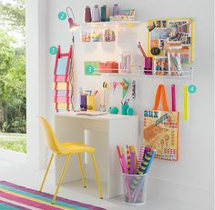 40 art room and craft room organization decor ideas interior Home Office Decor, Home Decor, Kid Decor, Decoration Bedroom, Craft Storage, Room Organization, New Room, Girls Bedroom, Room Inspiration