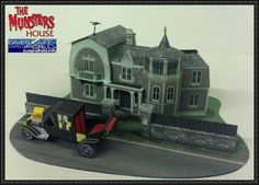 Munster's House Paper Model Free Template Download | PaperCraftSquare.com