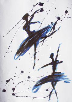 abstract ballerina tattoo - Google Search