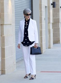 polka dot rock, white suit, beth djalali, what i wore on date night