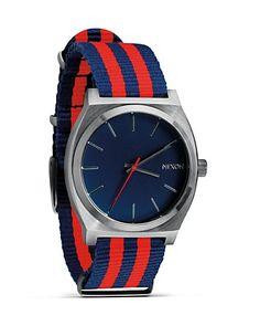 Nixon The Time Teller Nylon Watch, 39mm | Bloomingdale's