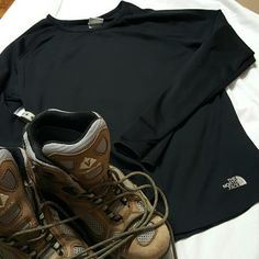 The North Face Black Thermal Top Excellent condition The North Face Black Thermal Top. Long sleeved, size medium. Polyester blend. The North Face Tops Tees - Long Sleeve