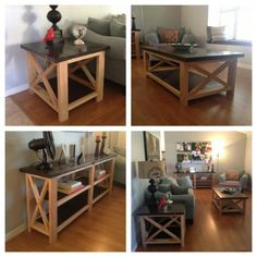 Rustic X Coffee Table, End Table and Console | Do It Yourself Home Projects from Ana White